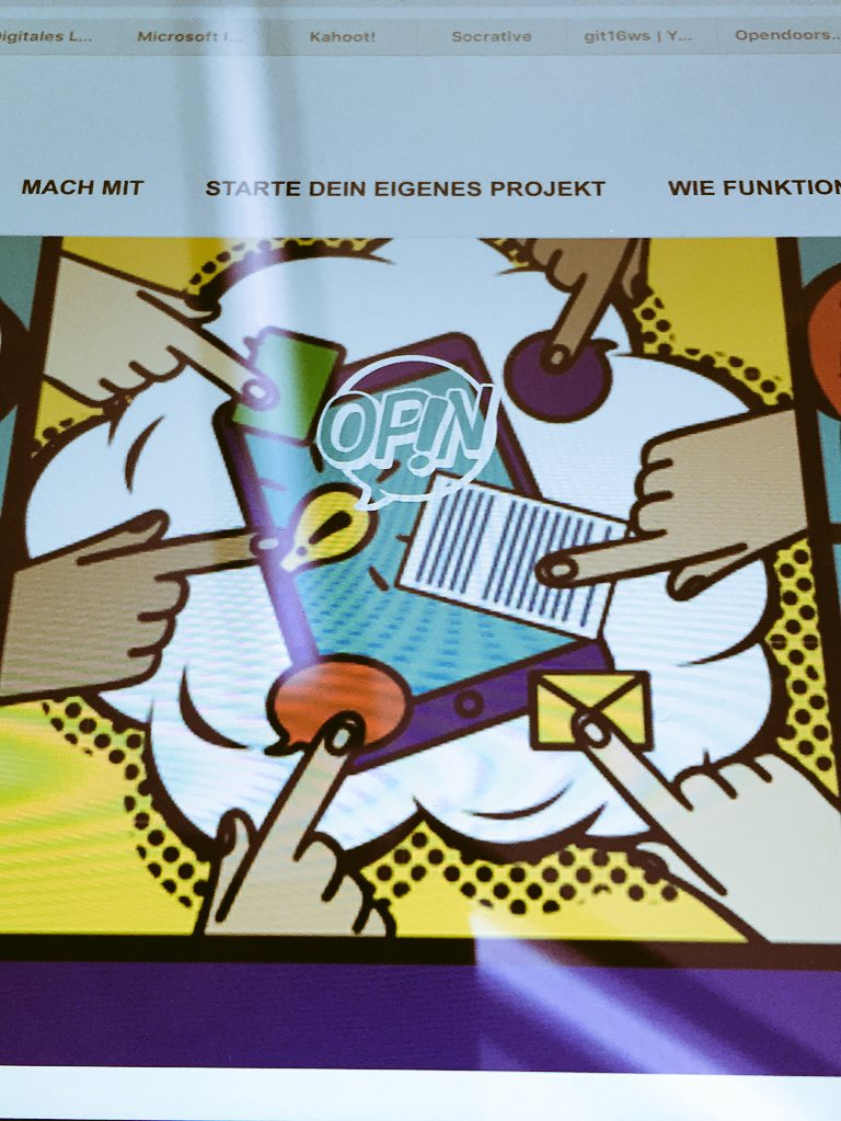 #opin.me #Beteiligungstool für Jugendliche, welches an einen Ort geknüpft ist.   #git16 #jugend https://t.co/5p2ZJL647H