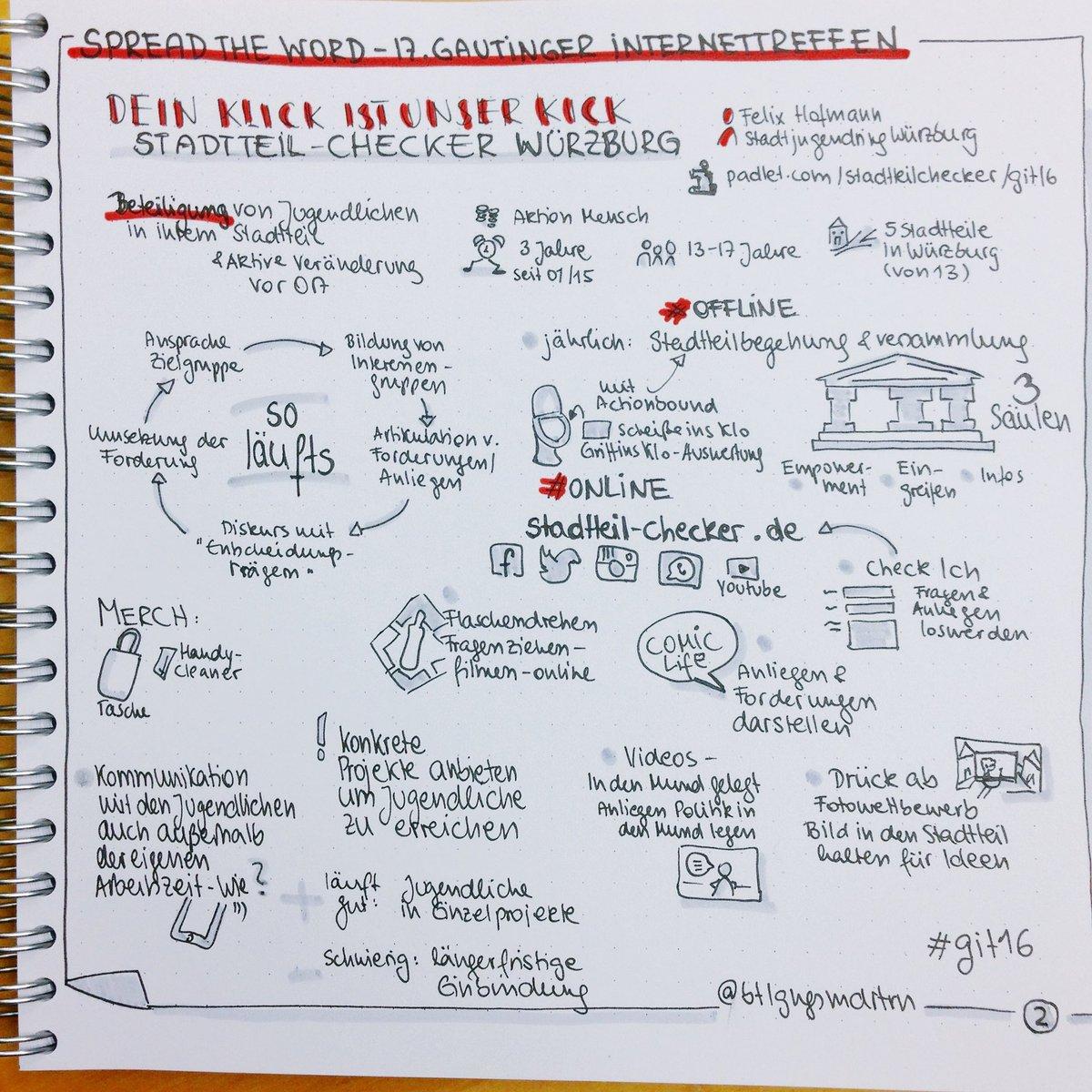 Spannendes Projekt @Stadtteilcheck in #Würzburg #git16 #sketchnote #beteiligung https://t.co/8jphICO1F3
