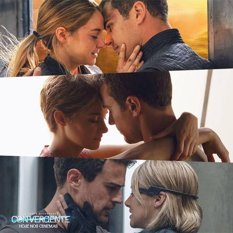 O terceiro filme da série Divergente está nos cinemas. Veja #Convergente e viva a história de amor de Tris e Quatro!