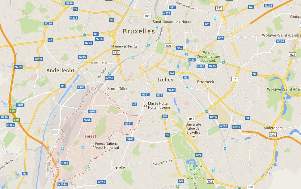 Area in #Brussels where anti-terror raid was taking place when shootout occurred #fusillade #bruxelles #ParisAttacks
