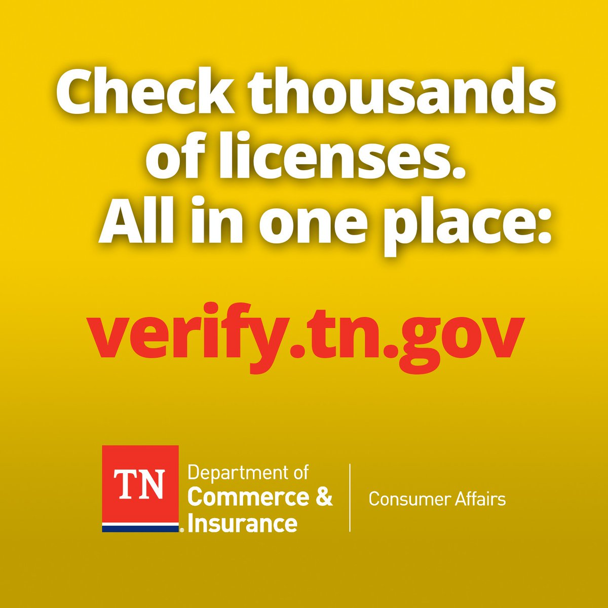 Tennessee Department Of Commerce Insurance On Twitter Real Estate Cosmetology Home Improvement Motor Vehicles And More Https T Co Nxsu2jcb2h Tennessee Verifytn Https T Co Udhawynojx