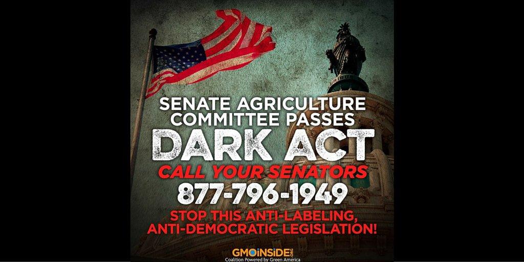 The #Senate Committee on #Ag passed #legislation to deny your #righttoknow. #StoptheDARKact! https://t.co/0aS6ypbg1g https://t.co/Ajorzz5MvQ