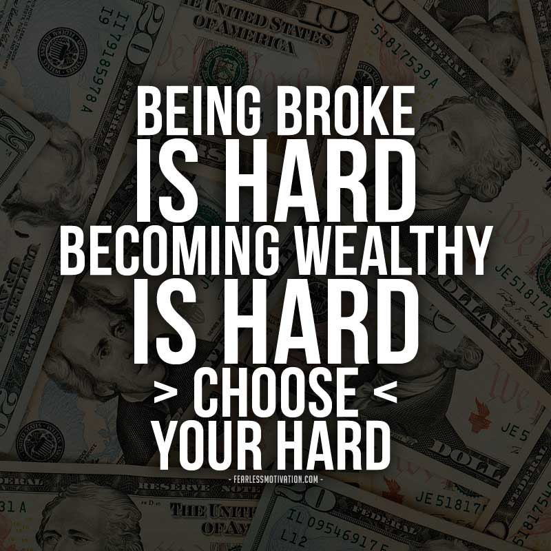 """10 Motivational Quotes On Wealth Money: Fearless Motivation On Twitter: """"Being Broke Is HARD"""