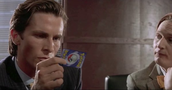 The american psycho business card scene is replaced perfectly with the american psycho business card scene is replaced perfectly with pokmon cards https colourmoves