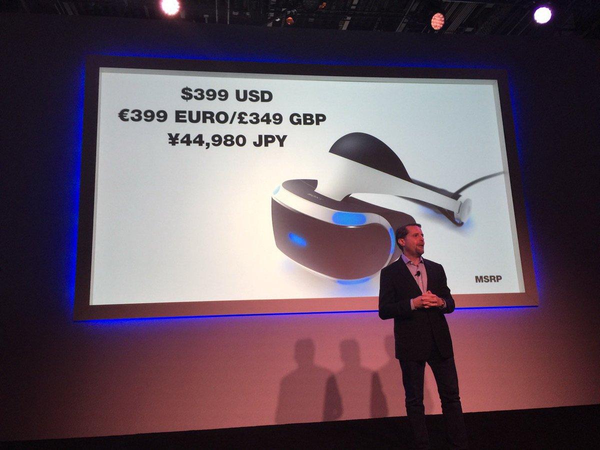 PlayStation VR、最終仕様やセット内容を発表。開発タイトルも明らかに230社以上が参入表明。スクエニやセガゲームスに加えコロプラなども参入game.watch.impress.co.jp/docs/news/2016… pic.twitter.com/McIgnIpycK