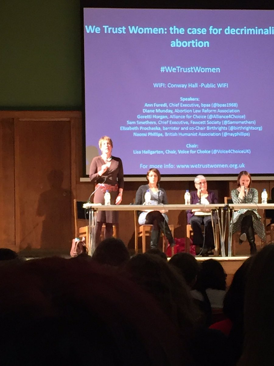 .@bpas1968's @AnnFuredi kicks off #WeTrustWomen - society expects women to be equal but the law still constricts us. https://t.co/YjTn2hxWl9