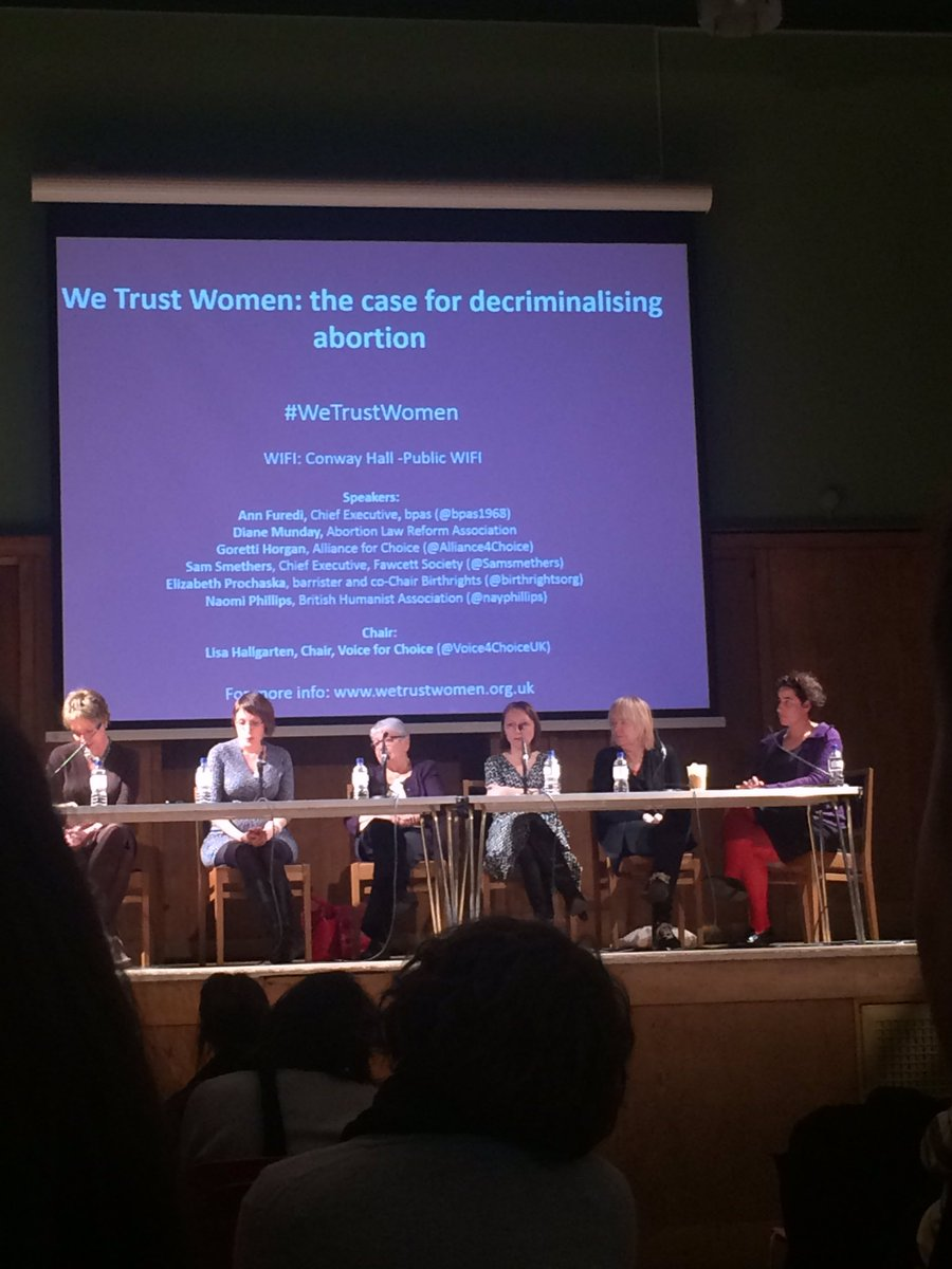Great talks by inspiring women about the need to finally decriminalise abortion in the UK. #WeTrustWomen https://t.co/4mZk6uibqf