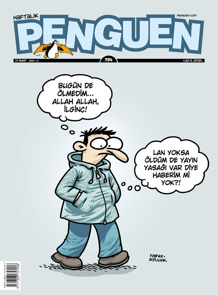 Bugün de ölmedim... #Penguen https://t.co/14It6Hb3Oq
