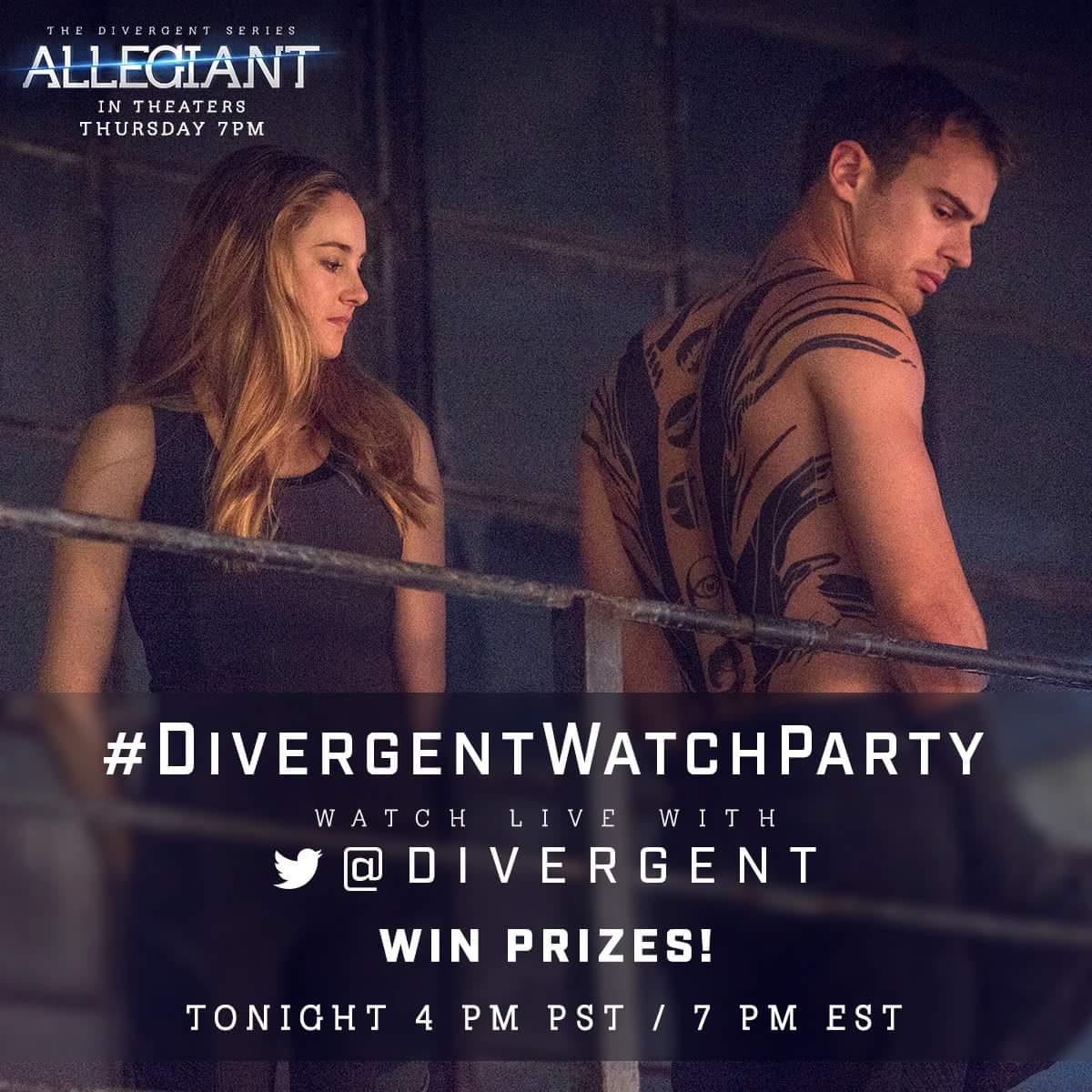 45 minutes until the #DivergentWatchParty,  who's ready for the fun? - @Divergent https://t.co/BwZklgVbrx