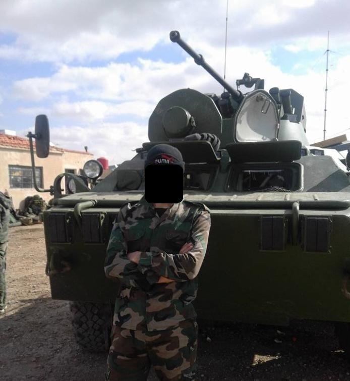 مدرعات BTR-82A الروسيه ودورها في الحرب الاهليه السوريه  CdolFC5WAAUcFsM
