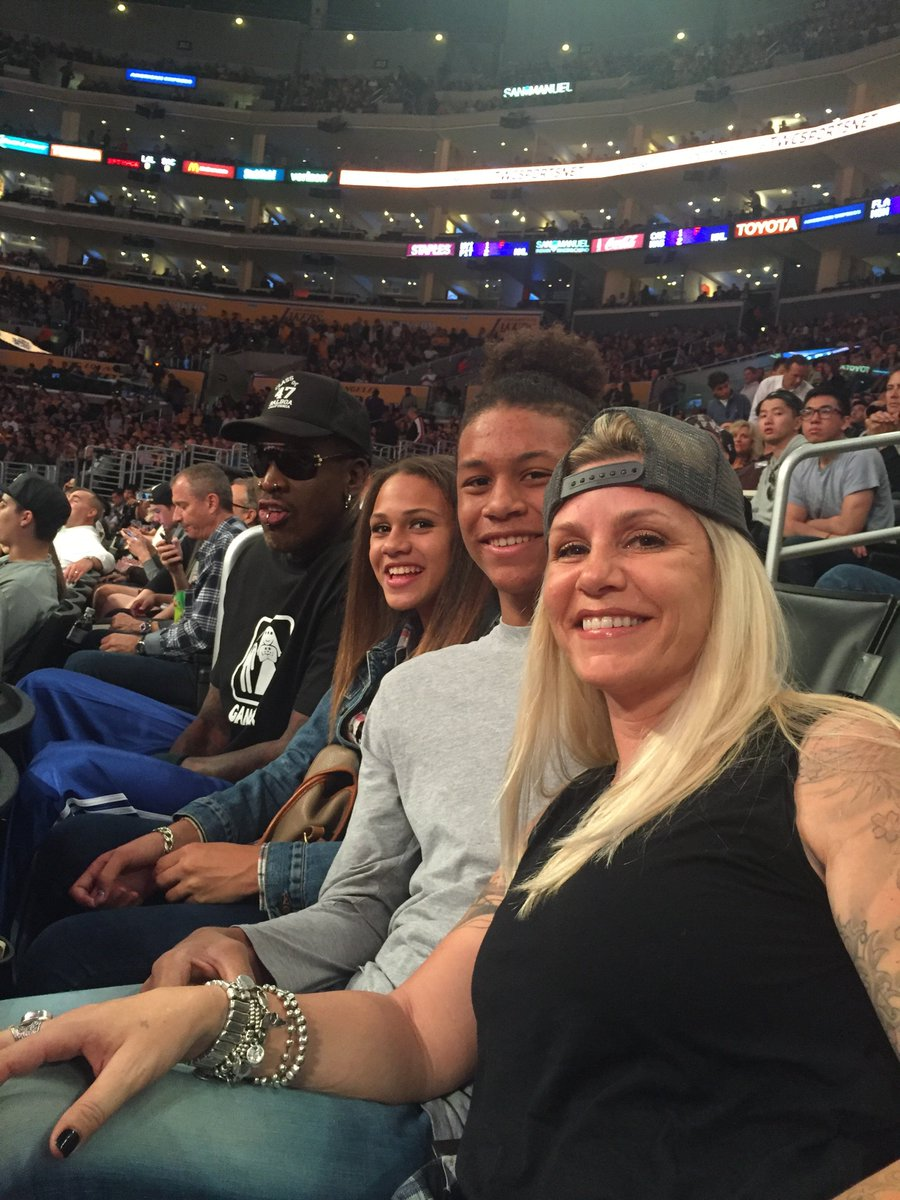 """Dennis Rodman on Twitter: """"Out with the family tonight at ..."""