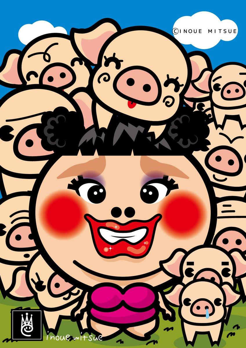 いのうえ蜜笑 على تويتر 渡辺直美さんの似顔絵 渡辺直美 似顔絵 イラスト T Co Yytatahyxj