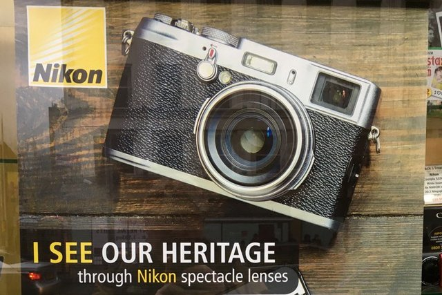 Nikon brags about its rich heritage using a Fujifilm camera
