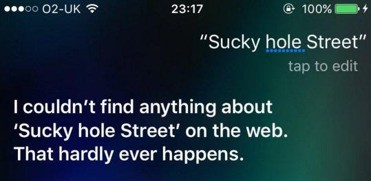 Glasgow Siri is rubbish.