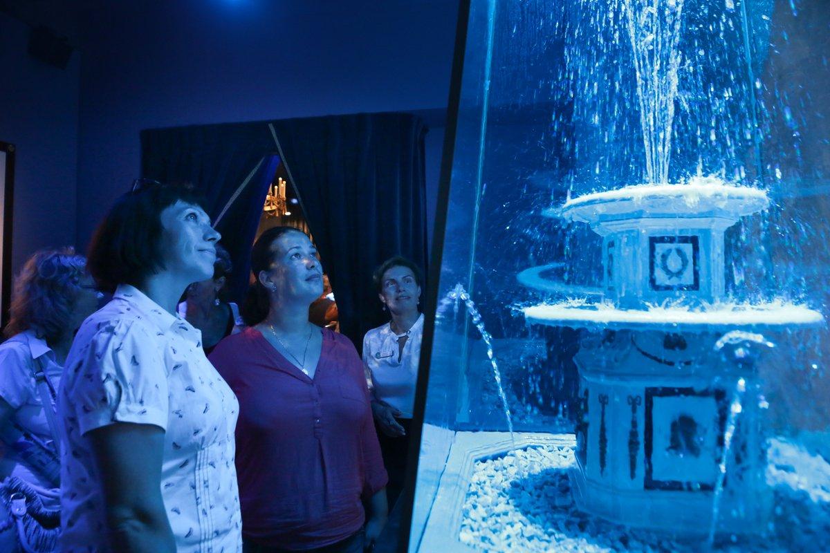 """""""Государевы потехи"""": в специальной витрине установлена действующая модель Римского фонтана #музейныймарафон https://t.co/fhL5AF3gJ9"""