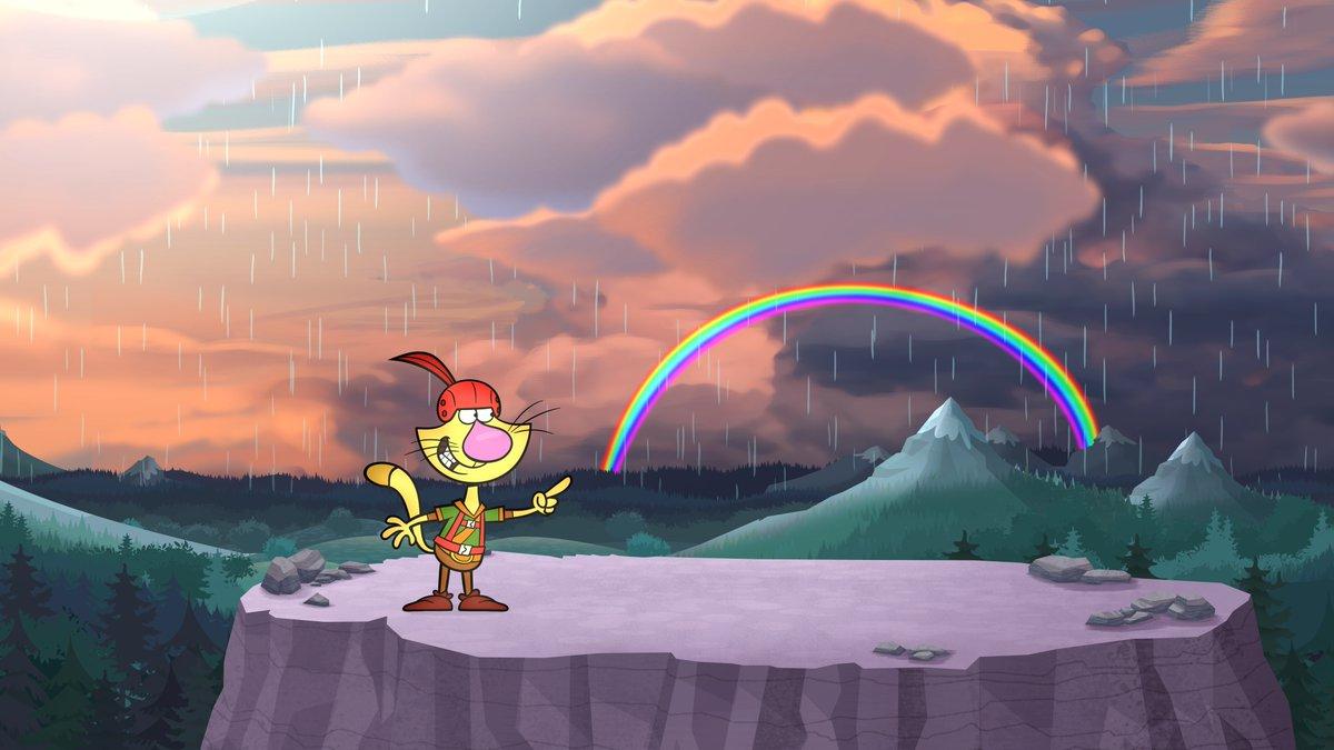 Nature Cat On Twitter Sometimes Rain Showers Make Something Beautiful Like A Rainbow RT If You Love Rainbows NatureCatPBS PBSKIDS Wttw