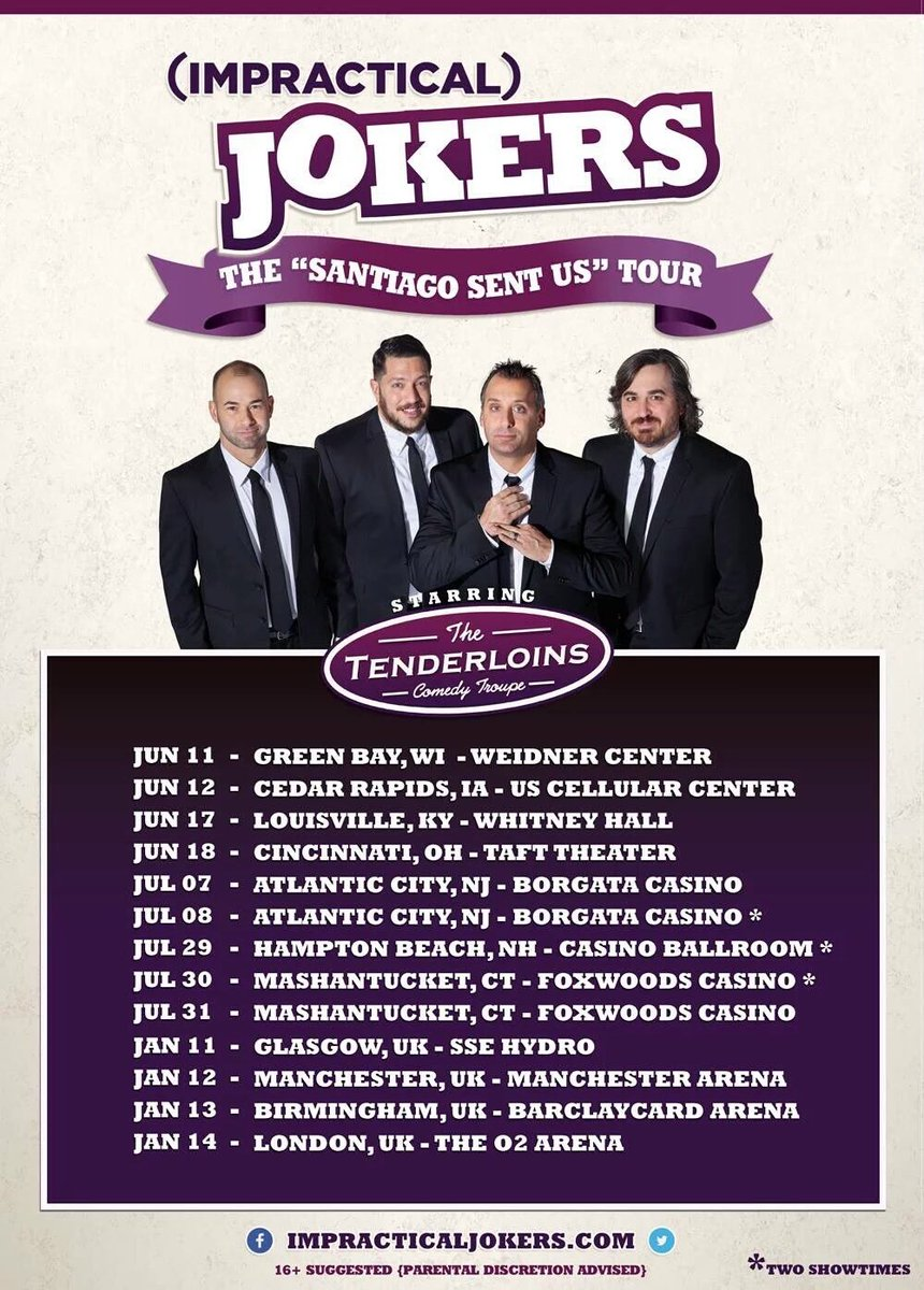 Sal vulcano on twitter all new impracticaljokers santiago sent sal vulcano on twitter all new impracticaljokers santiago sent us tour starts in june presale today uk were also coming back to you m4hsunfo