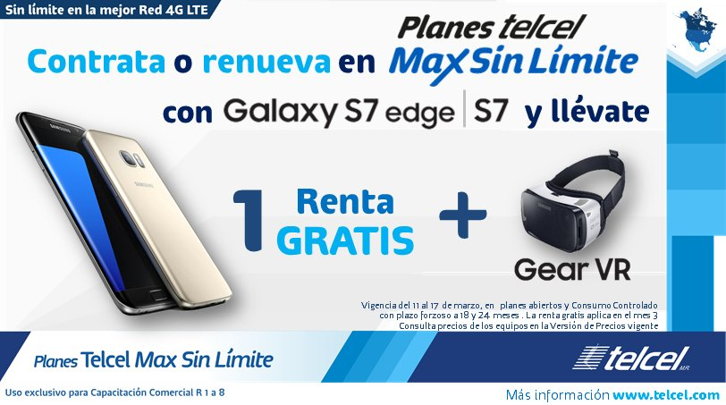 cap comercial r3 on twitter planes telcel max sin l mite con samsung galaxy s7 edge y s7. Black Bedroom Furniture Sets. Home Design Ideas