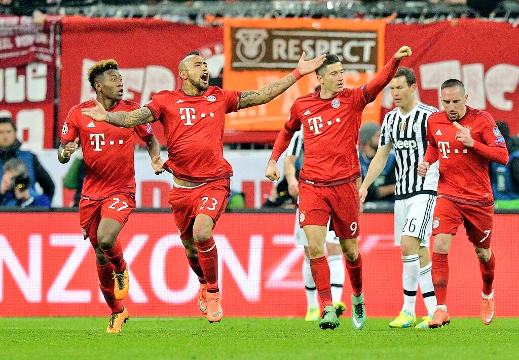 BAYERN JUVENTUS 4-2 Video, ai tempi supplementari