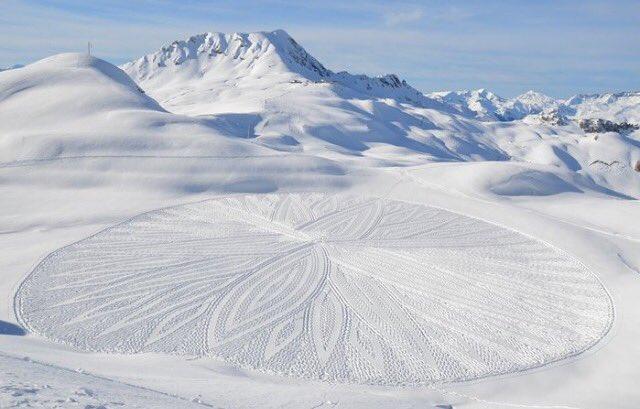 Crop Circles sulla Neve, guarda le FOTO
