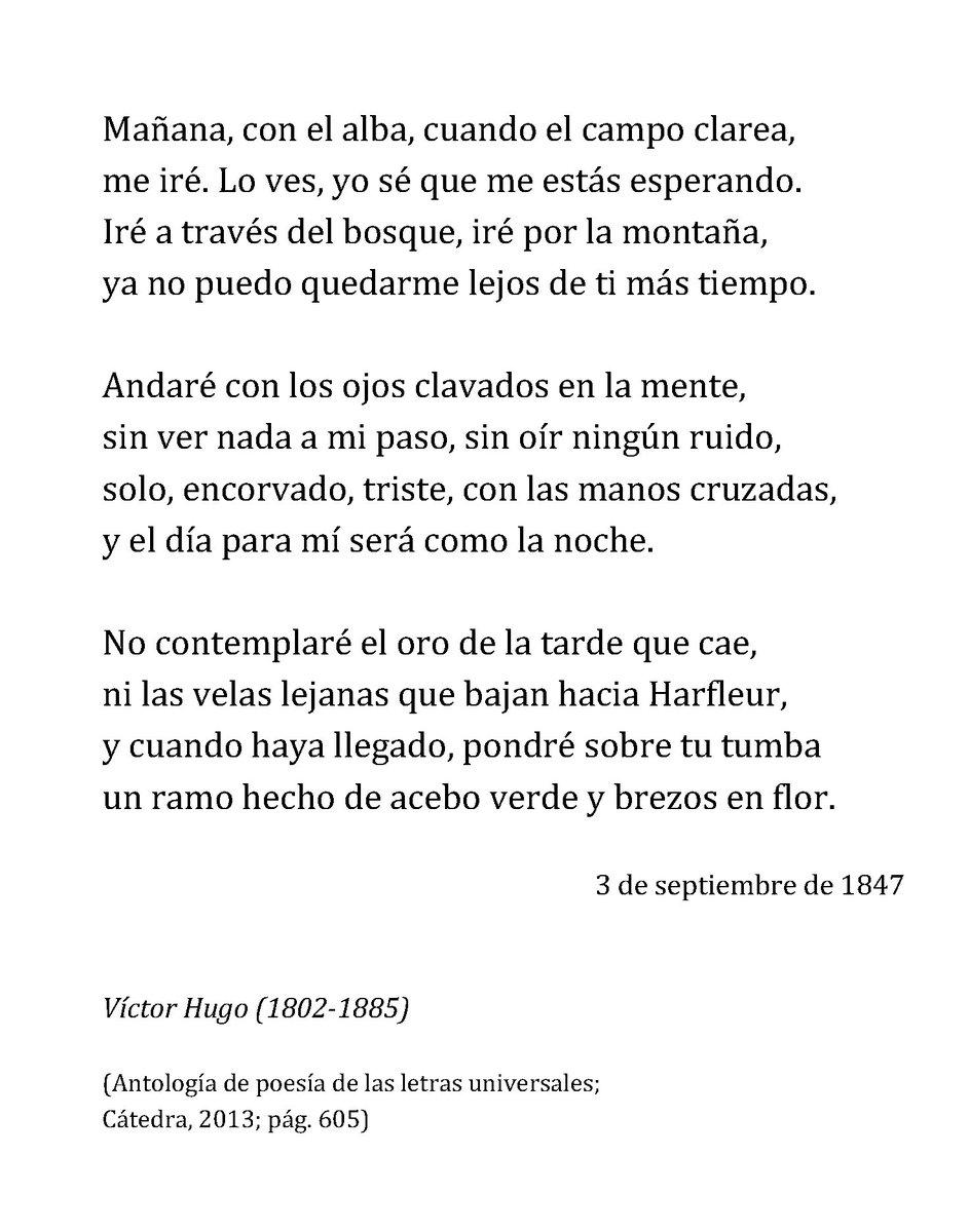 Un Poema Al Día On Twitter Víctor Hugo Mañana Con El