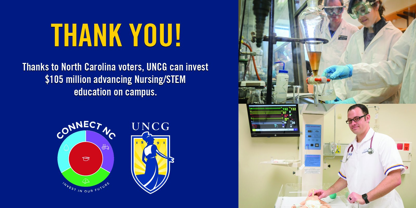 Thanks to the N.C. voters who made the #ConnectNC bond possible! Next step: Planning our new Nursing/STEM building! https://t.co/3o2u22d6oS