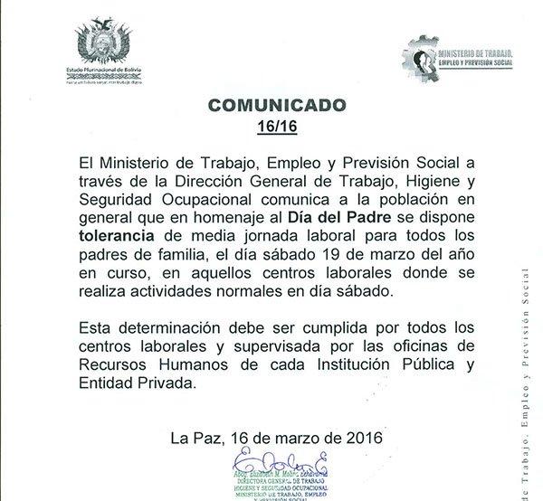 Ultimo Ministerio De Trabajo Dispone Tolerancia De Media Jornada