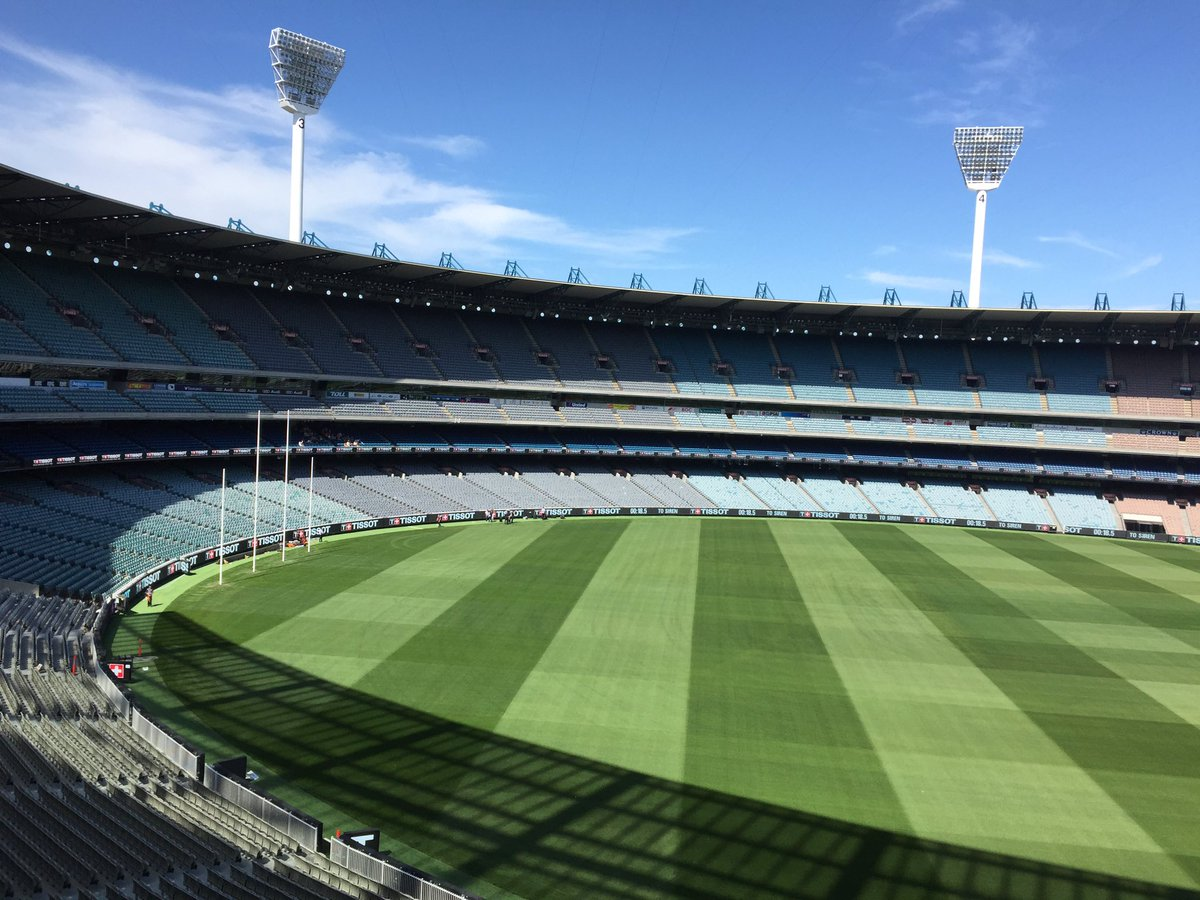 A welcome sight for footy fans!  #AFL #MCG