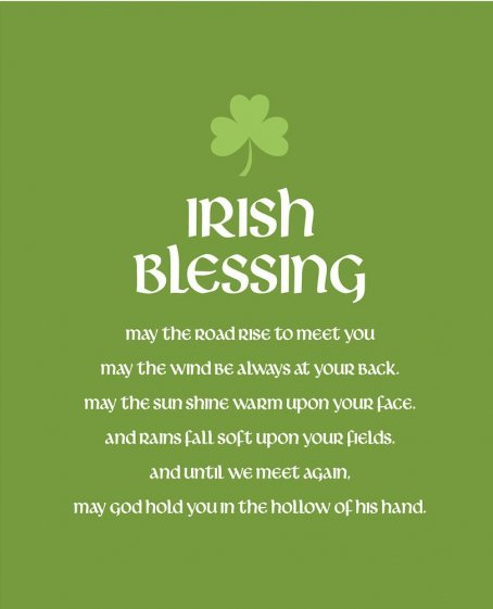 May the road rise up to meet you... Traditional Gaelic Blessing #StPatricksDay https://t.co/FZ0ZjWO0qy