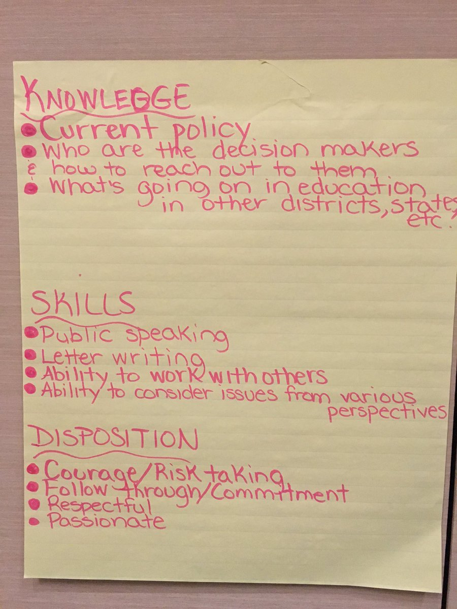What are the skills, knowledge, and dispositions we need to develop for advocacy? @ctserc #e2lead @myglobalside https://t.co/EyQGAgnEcE