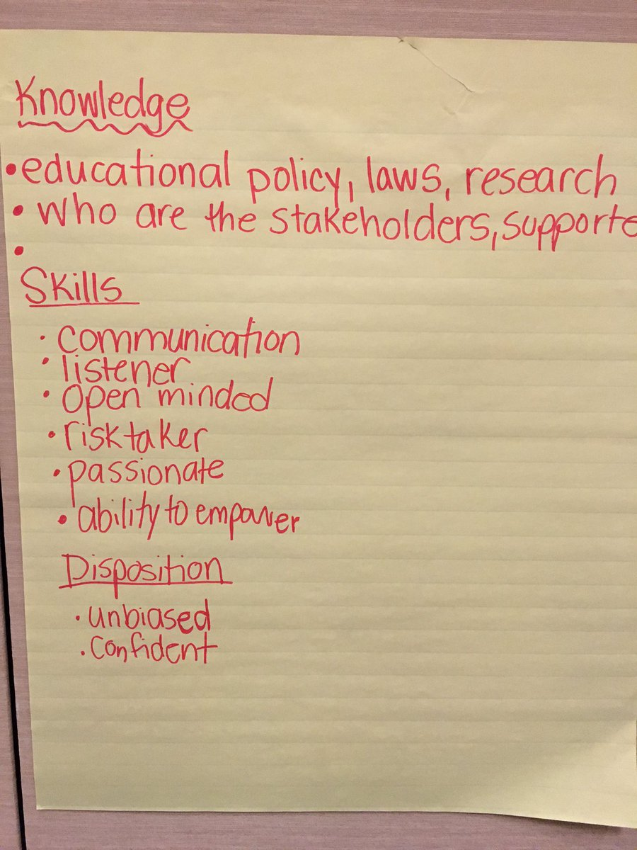 Part 2: What are the skills, knowledge, & dispositions we need for advocacy? @ctserc #e2lead @myglobalside https://t.co/xJC2Tj9RrO
