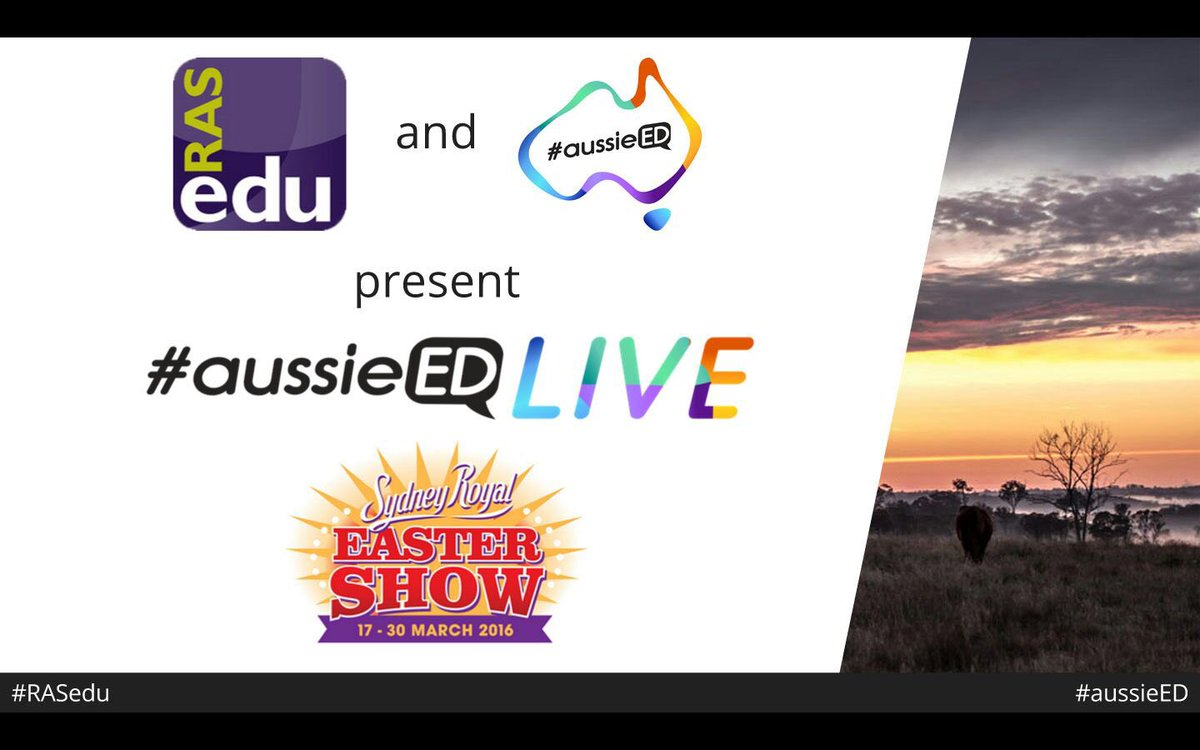 Not long to go until #RASedu and #aussieED kick off at the Easter Show!! https://t.co/wh7s7OTT1k