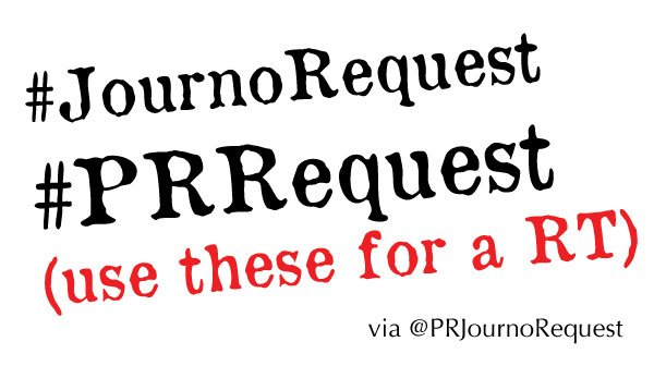 Use the #JournoRequest or #PRRequest tags and we'll RT it <br>http://pic.twitter.com/3w4herInUc