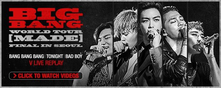 [BIGBANG - 'MADE' FINAL V LIVE REPLAY] Watch @ https://t.co/dz6JG7kcXW #BIGBANGMADE #MADETOUR #BIGBANG #빅뱅 #VLIVE