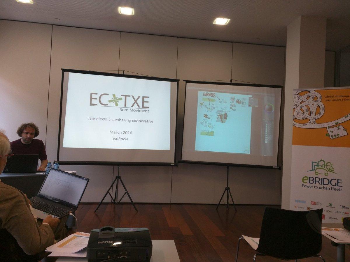 La cooperativa de vehicle elèctric compartit de Palma, @Ecotxe_SM , es presenta a la jornada #eBrIdgevalencia https://t.co/tVt2OqDEVl