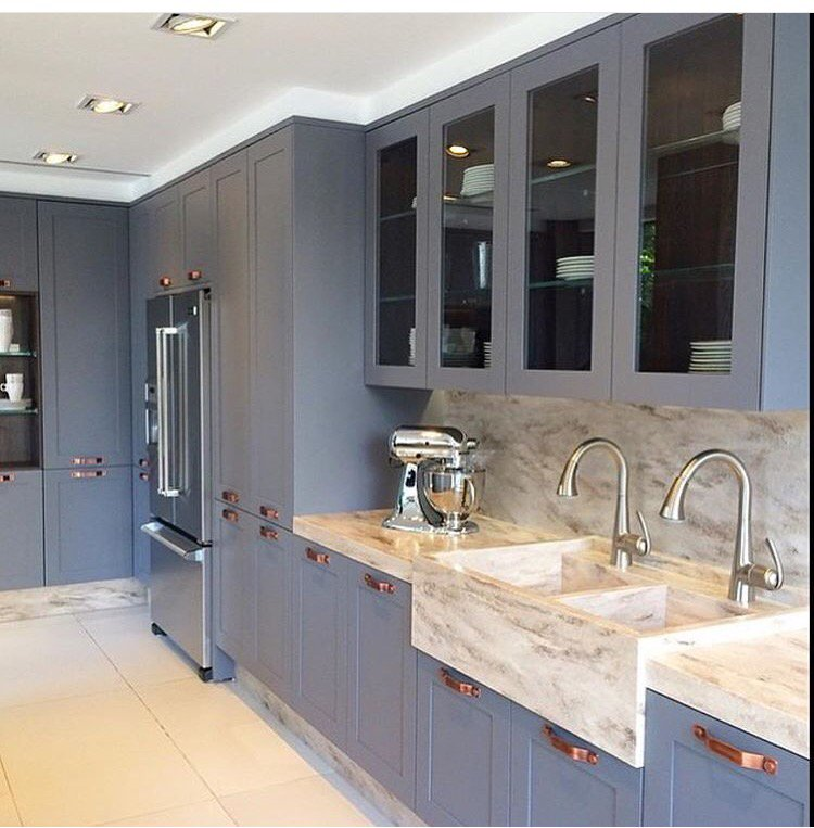 Wickes Halifax On Twitter Kitchen Inspo For Today Slate Shaker With Copper Handles Tall