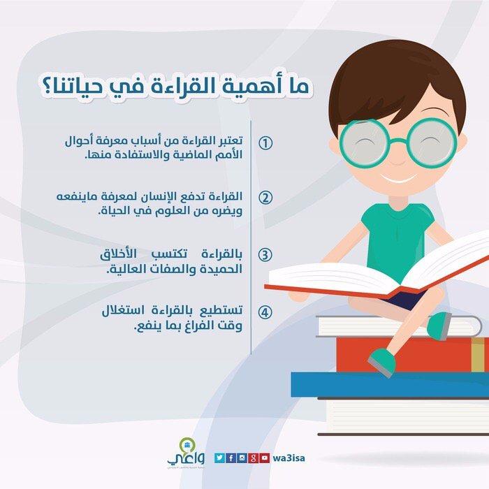 هاشتاق السعودية No Twitter انفوجرافيك ما أهمية القراءة في حياتنا عبر Wa3isa Https T Co Tnsfa0uaj6