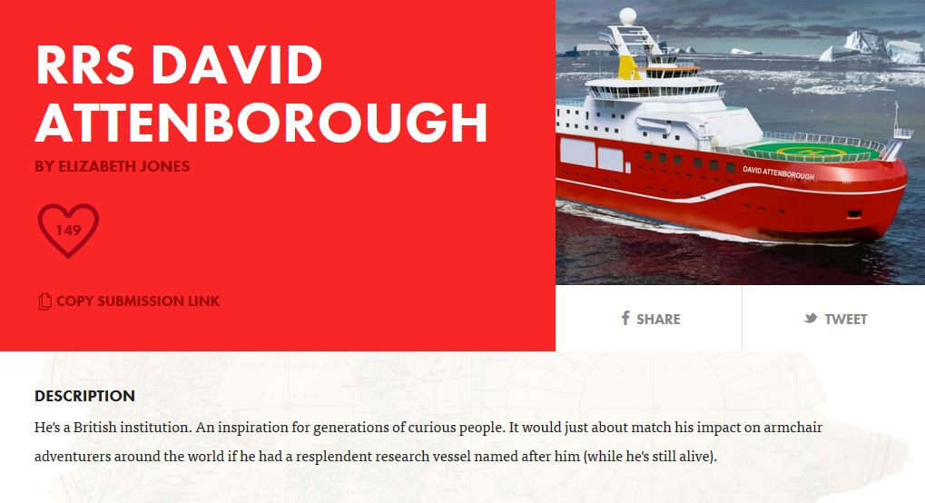 Attenborough ship?