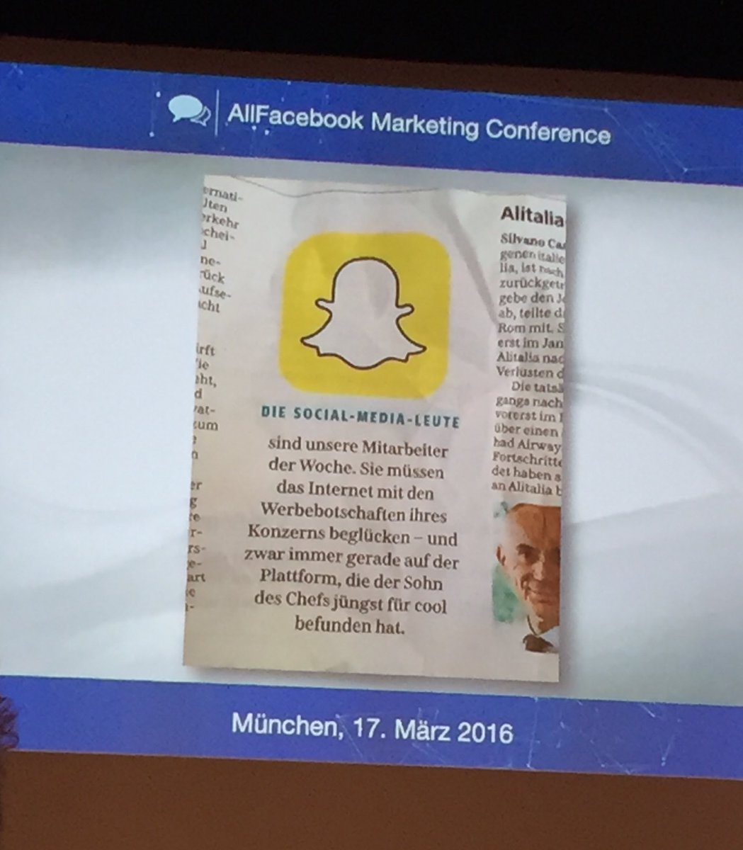 Oh wie wahr! ;)  #afbmc https://t.co/A9Ci61TkNM