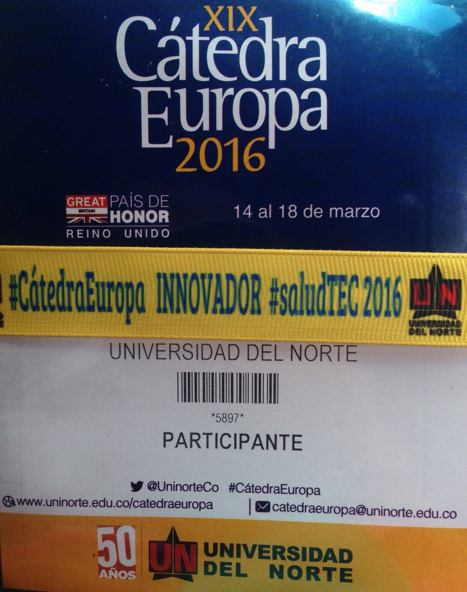 Información de calidad en Jornada #saludTEC2016 No te atrevas a perder esta gran oportunidad! @CEMuninorte https://t.co/LVVUB1YsJR