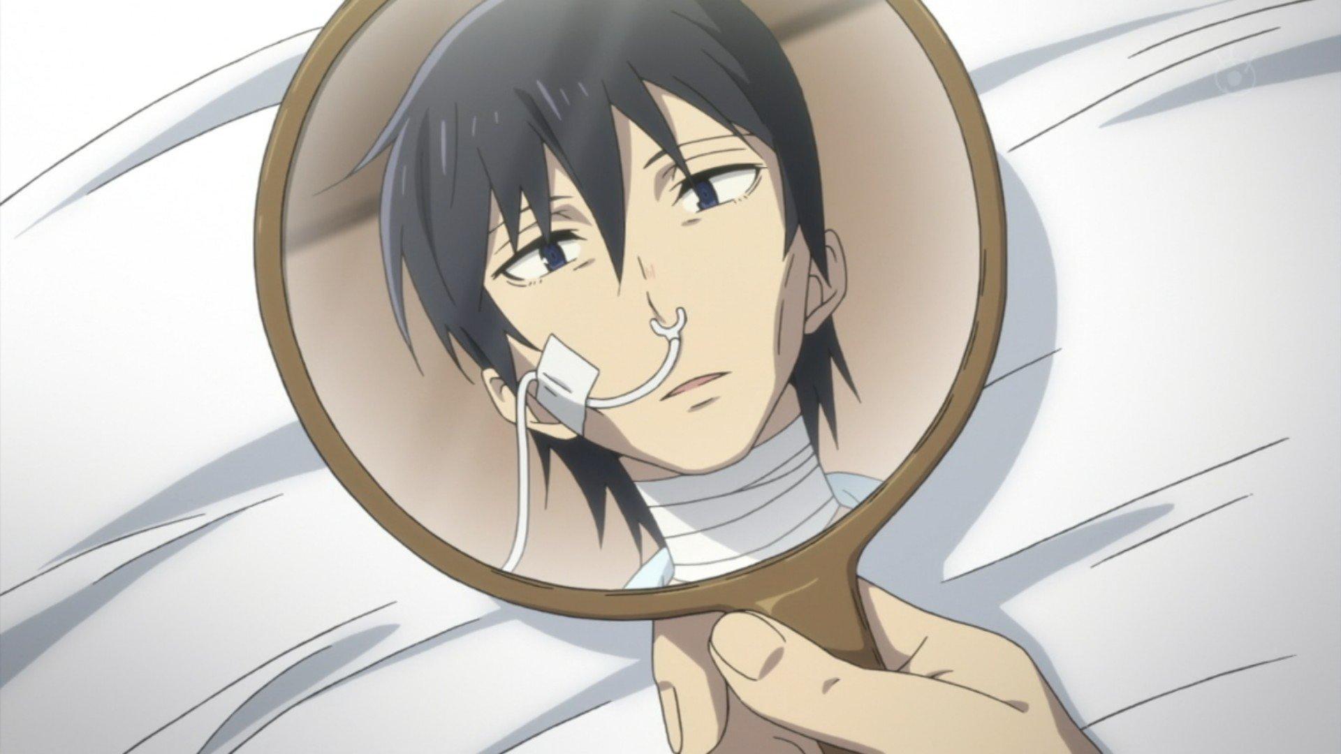 大人になった自分を鏡で見る悟