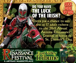 Happy St. Paddy's Day! You're in luck, retweet this for a chance to win tickets to the @azrenfest https://t.co/130vLJxWvM