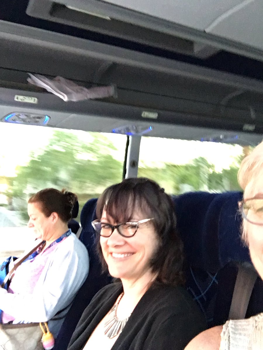 Three diehards up early for #cue16  Are you on the bus or off the bus? @MongerSheila https://t.co/eh7qIolesj