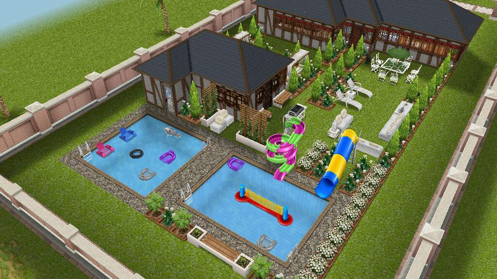 how to buy a swimming pool in sims free play