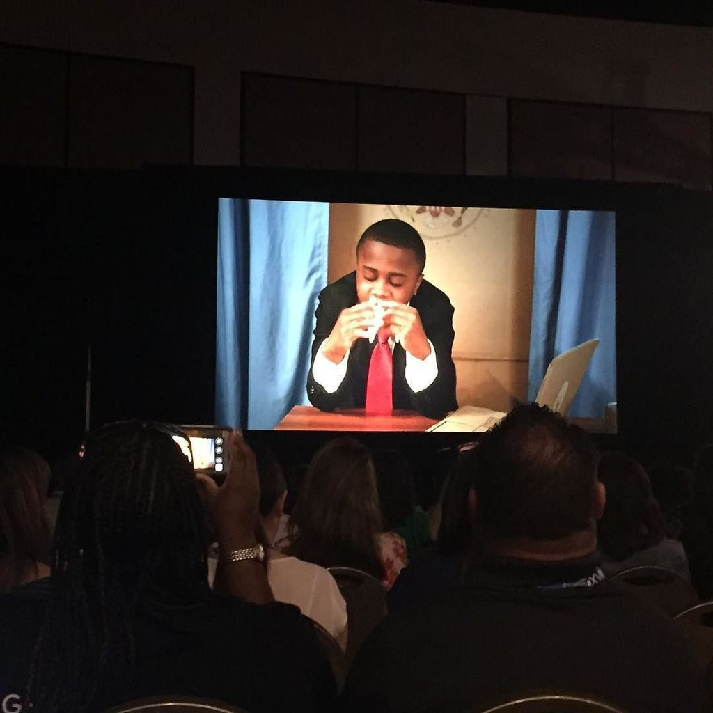 Huge energy at #cue16 opening session w/ awesome welcome from #kidpresident https://t.co/6VP4tPtDmr https://t.co/nWvdnegkFf