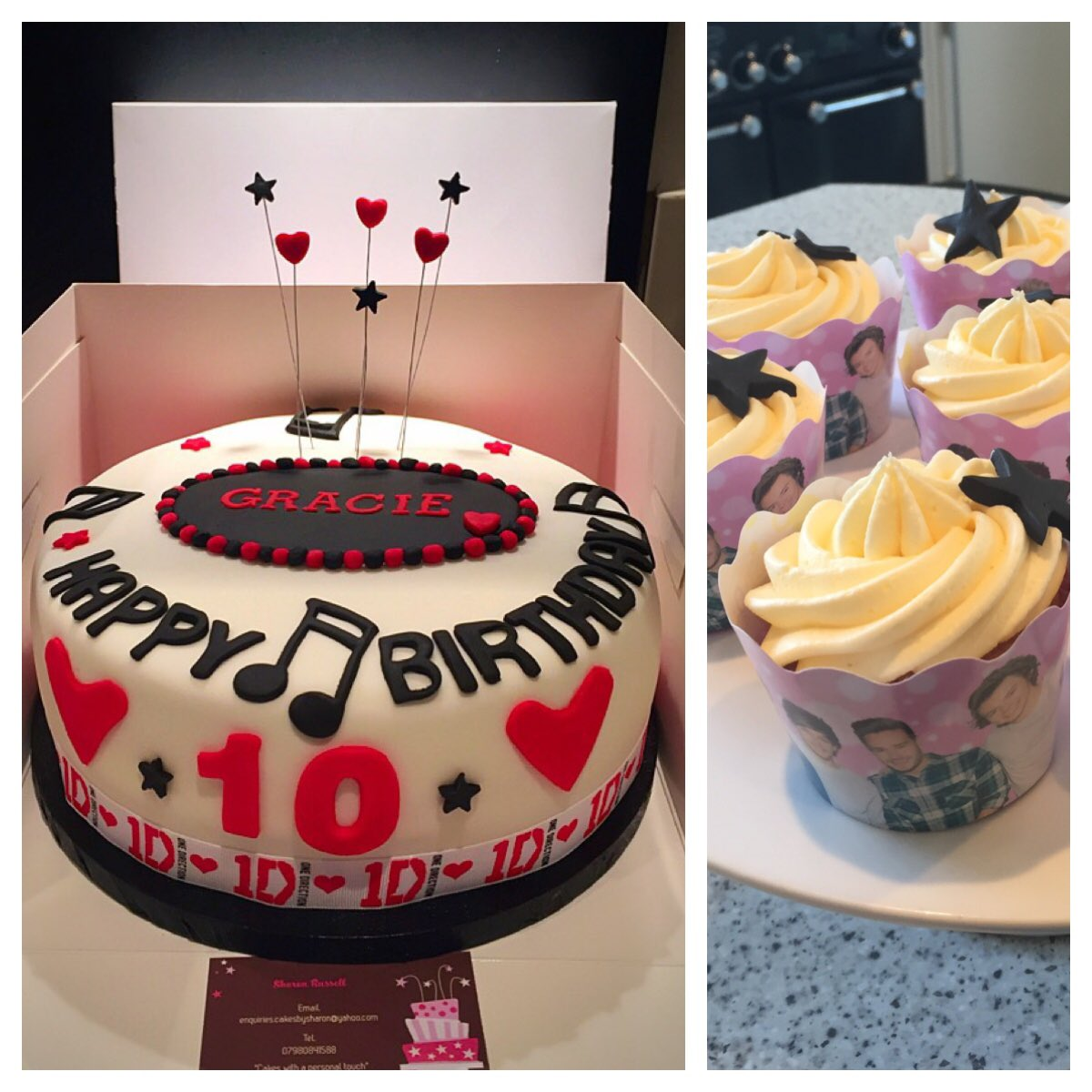 Excellent Cakes By Sharon On Twitter One Direction Themed Birthday Cakes Funny Birthday Cards Online Elaedamsfinfo