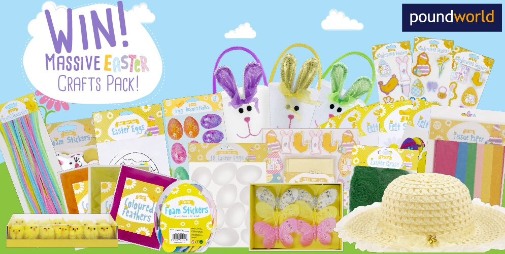 @PoundworldTweet NEW #COMPETITION! #Win a MASSIVE #Easter Craft Pack! FOLLOW & RETWEET to enter. Closes 23rd March! https://t.co/7p6rIJlgJn