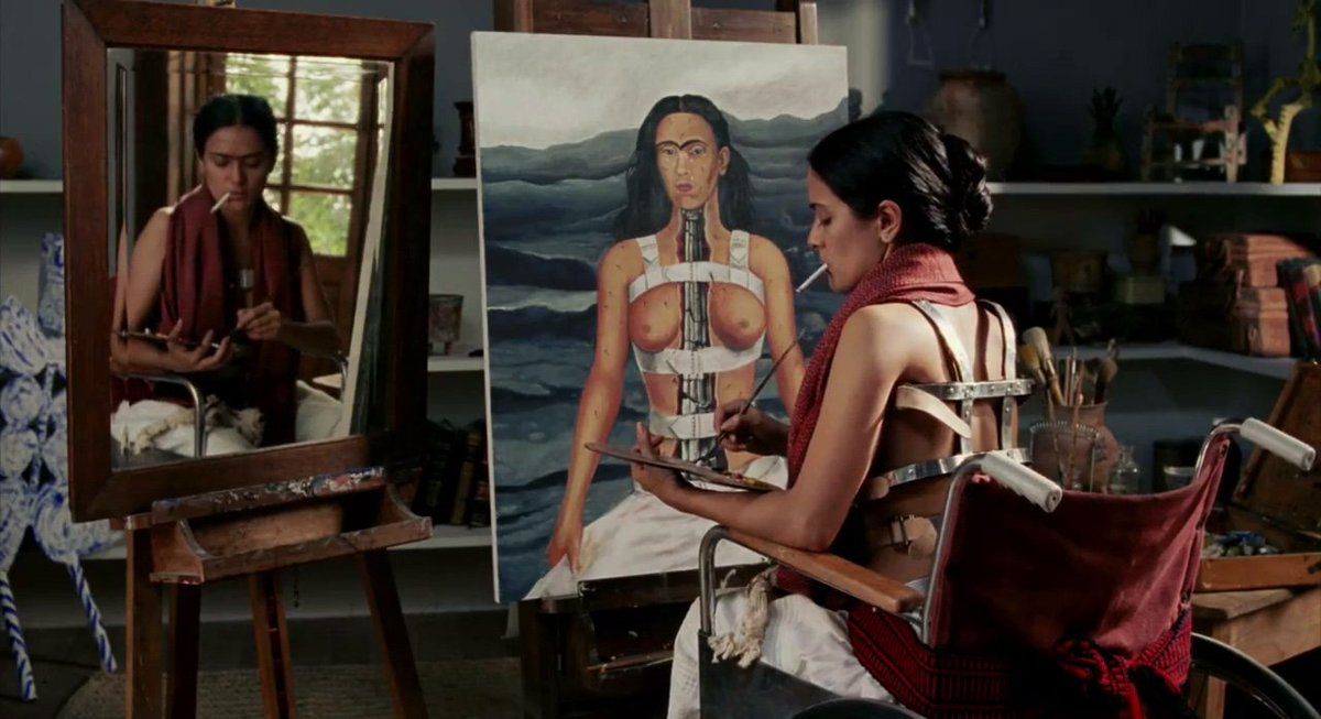 Image result for frida 2002 painting scenes