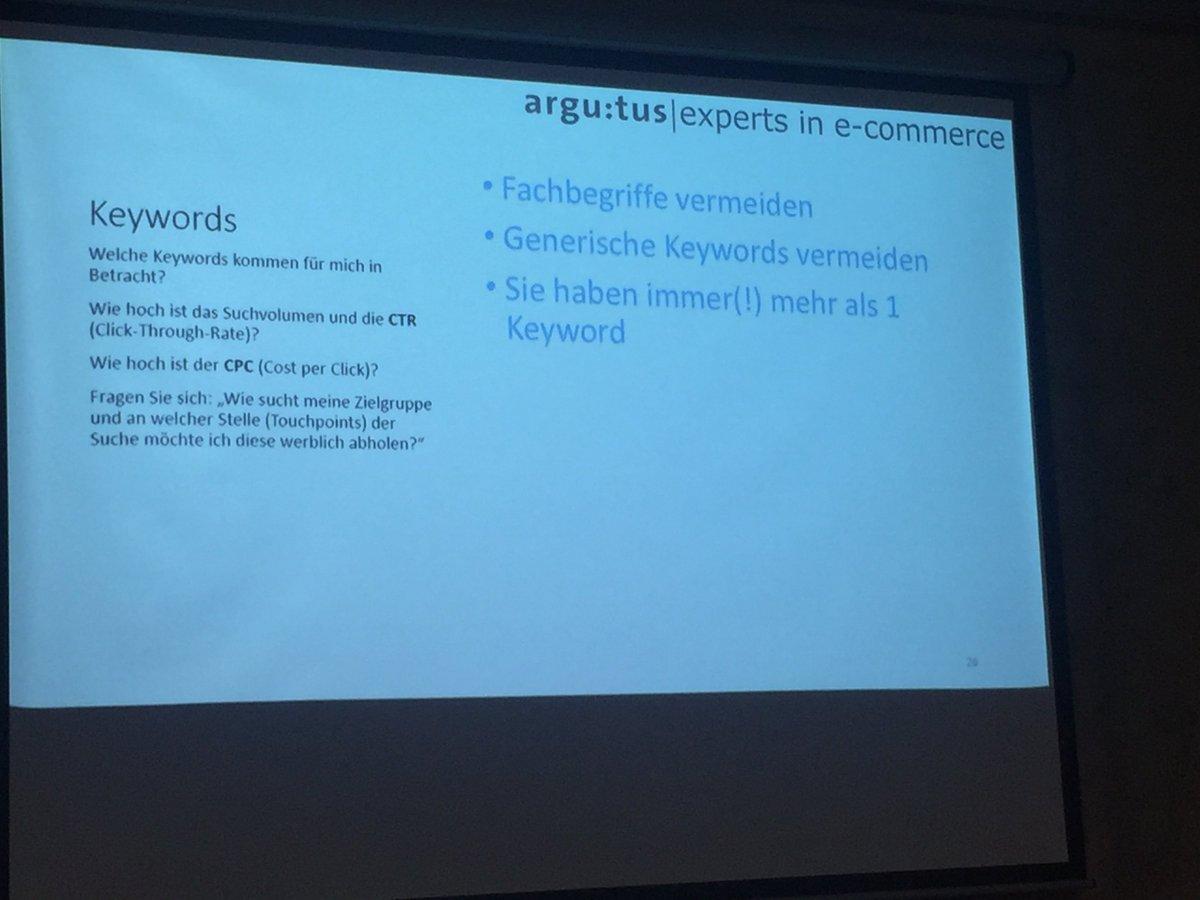 @argutus_gmbh sagt: Sie haben immer mehr als ein #keyword #SEO #SMCDUS https://t.co/5xNqhNKxGb
