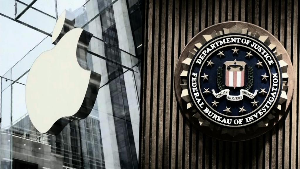 Apple logo and FBI logo